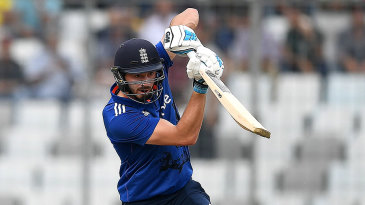 James Vince drives through the covers