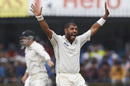 Jeetan Patel belts out an appeal, India v New Zealand, 3rd Test, Indore, 1st day, October 8, 2016
