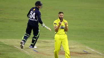 Andrew Tye took 3 for 10 in three overs