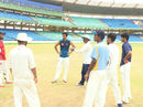 Mohammad Kaif and Sulakshan Kulkarni chat with the Chhattisgarh players at a training camp in Raipur