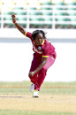 Erva Giddings bowls on debut, West Indies v England, 1st Women's ODI, Trelawny, October 8, 2016