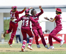 Deandra Dottin celebrates one of her three wickets, West Indies v England, 1st Women's ODI, Trelawny, October 8, 2016
