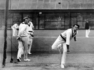 John Gleeson bowls in the nets at Lord's, June 19, 1968