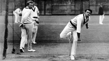 John Gleeson bowls in the nets at Lord's