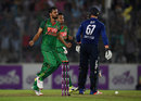 Mashrafe Mortaza burst through England's top order including trapping Jason Roy lbw, Bangladesh v England, 2nd ODI, Mirpur, October 9, 2016