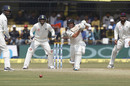BJ Watling drives firmly to mid-off, India v New Zealand, 3rd Test, Indore, 3rd day, October 10, 2016