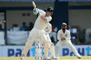 James Neesham muscles one through midwicket, India v New Zealand, 3rd Test, Indore, 3rd day, October 10, 2016