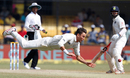 Trent Boult makes an acrobatic save off his bowling, India v New Zealand, 3rd Test, Indore, 4th day, October 11, 2016