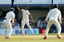 R Ashwin took the last wicket to fall, India v New Zealand, 3rd Test, Indore, 4th day, October 11, 2016