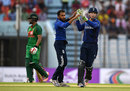 Adil Rashid claimed the big wicket of Tamim Iqbal for 45, Bangladesh v England, 3rd ODI, Chittagong, October 12, 2016