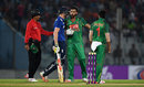 Sam Billings and Mashrafe Mortaza collided going for a single, Bangladesh v England, 3rd ODI, Chittagong, October 12, 2016