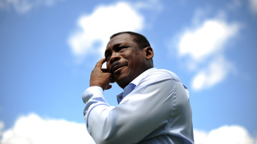 Gordon Greenidge at a photo call