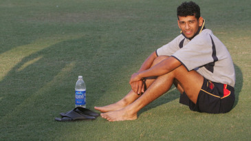 Mumbai Ranji team captain Amol Muzumdar after scoring a century against Rajasthan
