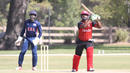 Srimantha Wijeratne lofts a six over extra cover to bring up his fifty, USA v Canada, Auty Cup, Los Angeles, October 13, 2016