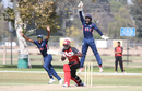 Wicketkeeper Akeem Dodson shouts for a successful lbw appeal, USA v Canada, Auty Cup, Los Angeles, October 13, 2016