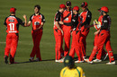 Cameron Valence is congratulated after taking a wicket, Cricket Australia XI v South Australia, Matador Cup 2016-17, Sydney, October 15, 2016