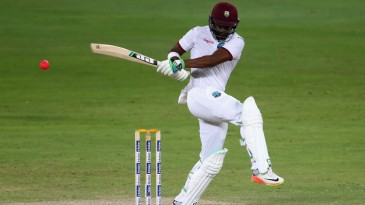 Darren Bravo swivels into a pull