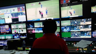 A look at the TV broadcast room during a World T20 match