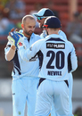 Nathan Lyon celebrates a wicket with his team-mates,  New South Wales v Victoria, Matador Cup 2016-17, Sydney, October 16, 2016