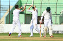 Zafar Ansari claimed four wickets in BCB XI's first innings, BCB XI v England XI, tour match, 1st day, Chittagong, October 16, 2016