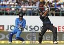 Doug Bracewell laces a drive through the off side, India v New Zealand, 1st ODI, Dharamsala, October 16, 2016