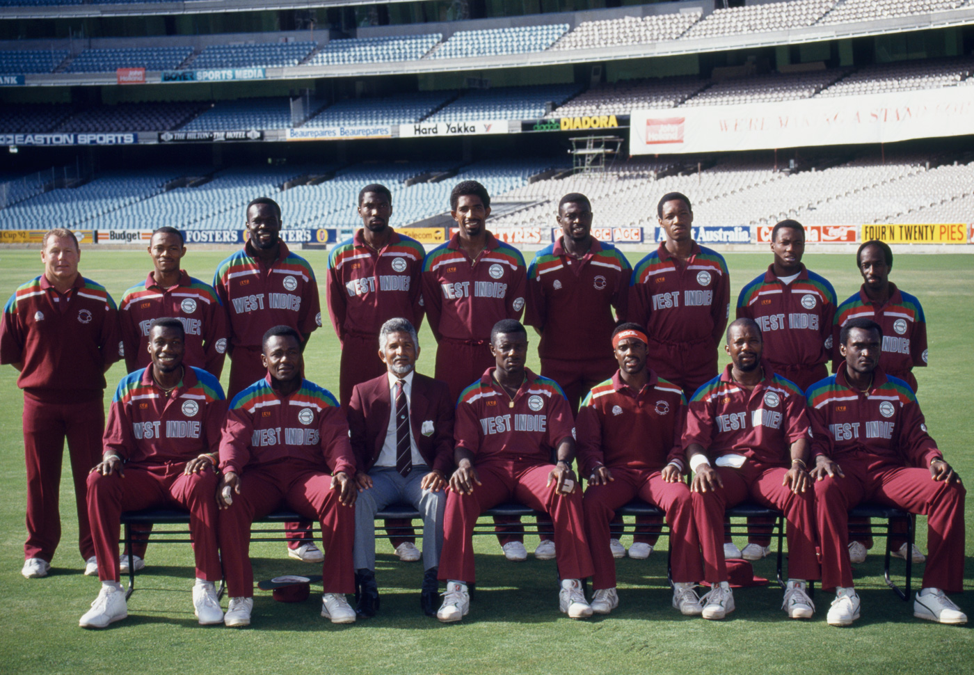 Patrick Patterson (standing, fourth from right) with the 1992 West Indies World Cup squad