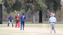 Parveen Saroye hits Timil Patel for six, USA v Canada, Auty Cup, Los Angeles, October 16, 2016