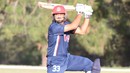 Hammad Shahid cuts hard for a boundary through point, USA v Canada, Auty Cup, Los Angeles, October 16, 2016