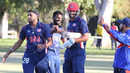 Hammad Shahid is all smiles after his 17 not out helped USA across the line, USA v Canada, Auty Cup, Los Angeles, October 16, 2016