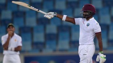 Darren Bravo brings up his doughty fifty