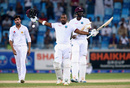 Darren Bravo celebrates his fighting hundred, Pakistan v West Indies, 1st Test, Dubai, 5th day, October 17, 2016