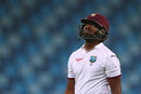 A dejected Darren Bravo walks back, Pakistan v West Indies, 1st Test, Dubai, 5th day, October 17, 2016