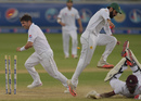 Misbah-ul-Haq ran Miguel Cummins out, Pakistan v West Indies, 1st Test, Dubai, 5th day, October 17, 2016