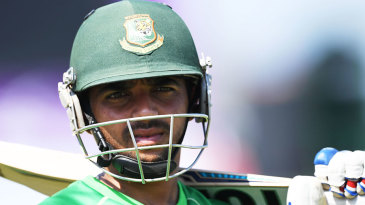 Mominul Haque waits for his turn in the nets