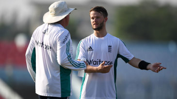 Ben Duckett chats with England coach Trevor Bayliss
