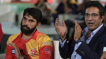 Misbah-ul-Haq and Wasim Akram at the draft