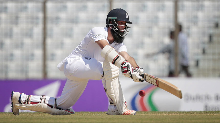 Moeen Ali was involved in a fifty partnership for the fourth wicket