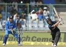Kane Williamson lofts over cover, India v New Zealand, 2nd ODI, Delhi, October 20, 2016