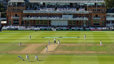 A general view of the Middlesex-Yorkshire game
