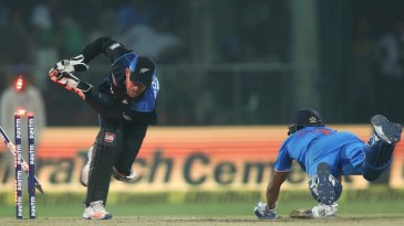 Manish Pandey was run-out despite a full-length dive