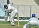 Nitish Rana loses his off stump, Delhi v Karnataka, Group B, Ranji Trophy 2016-17, Kolkata, 1st day, October 20, 2016