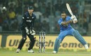 MS Dhoni jams one into the off side, India v New Zealand, 2nd ODI, Delhi, October 20, 2016