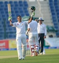 Younis Khan celebrates his 33rd hundred, Pakistan v West Indies, 2nd Test, Abu Dhabi, 1st day, October 21, 2016