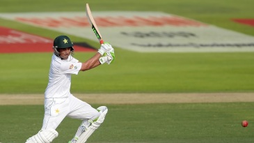 Younis Khan flays the ball through the covers