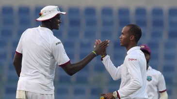 Part-time spinner Kraigg Brathwaite broke through off the last ball of the day