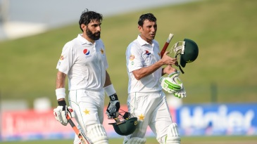 Misbah-ul-Haq and Younis Khan became owners of Pakistan's most prolific partnership in Tests