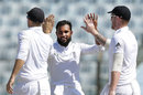 Adil Rashid claimed his second wicket, Bangladesh v England, 1st Test, Chittagong, 3rd day, October 22, 2016