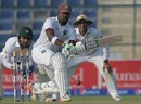 Darren Bravo shapes to sweep, Pakistan v West Indies, 2nd Test, Abu Dhabi, 2nd day, October 22, 2016