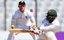 Imrul Kayes fell to a gloved sweep, Bangladesh v England, 1st Test, Chittagong, 4th day, October 23, 2016
