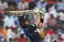 Martin Guptill lays into a pull shot, India v New Zealand, 3rd ODI, Mohali, October 23, 2016